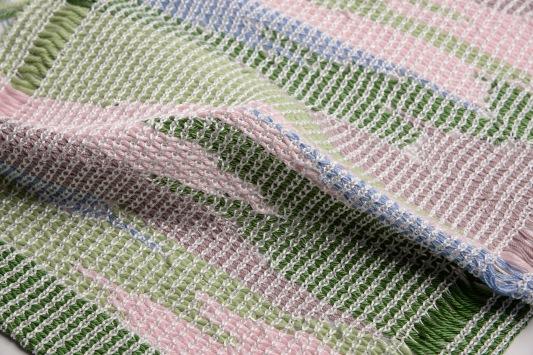 Knitted on a domestic knitting machine: cotton, tactel nylon